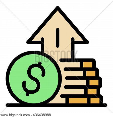 Money Startup Icon. Outline Money Startup Vector Icon Color Flat Isolated