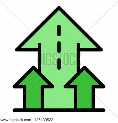 Startup Arrows Icon. Outline Startup Arrows Vector Icon Color Flat Isolated