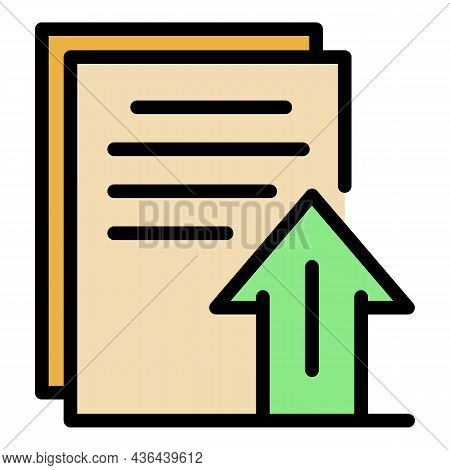 Startup Document Icon. Outline Startup Document Vector Icon Color Flat Isolated