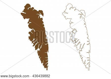Baranof Island (united States Of America, North America, Alaska, Us, Usa, Alexander Archipelago) Map