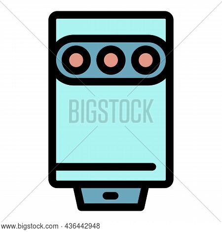 Classic Home Boiler Icon. Outline Classic Home Boiler Vector Icon Color Flat Isolated