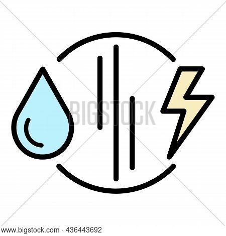 Fuel Versus Electricity Icon. Outline Fuel Versus Electricity Vector Icon Color Flat Isolated