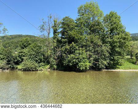 Kupa River And The Territory Of The Neighboring Republic Of Slovenia In Brod Na Kupi - Gorski Kotar,