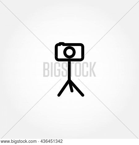 Camera On Tripod Icon. Tripod Icon. Camera On Tripod Icon. Tripod Icon.