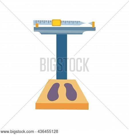 Weight Scales, Measurement Icons. Flat Design Style. Weighing Equipment Vector Illustration