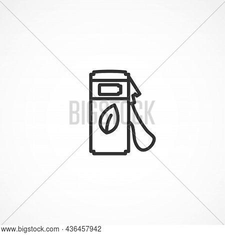 Bio Fuel Line Icon. Bio Fuel Isolated Line Icon