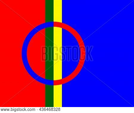 The Flag Of The Sami People Adopted Flag To Represent The People Who Live In Large Northern Parts Of