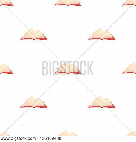 Opened Book With Pages Fluttering Pattern Seamless Background Texture Repeat Wallpaper Geometric Vec