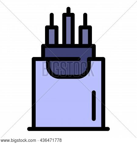 Internet Cable Icon. Outline Internet Cable Vector Icon Color Flat Isolated