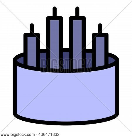 Electrical Cable Icon. Outline Electrical Cable Vector Icon Color Flat Isolated