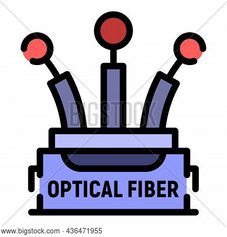 Speed Cable Icon. Outline Speed Cable Vector Icon Color Flat Isolated