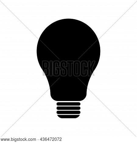 Light Bulb Icon, Lightbulb Energy Symbol Electric Power Vector Illustration Isolated On White Backgr