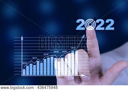 Target And Goal Business Analytics And Financial Concept, Plans To Increase Business Growth And An I