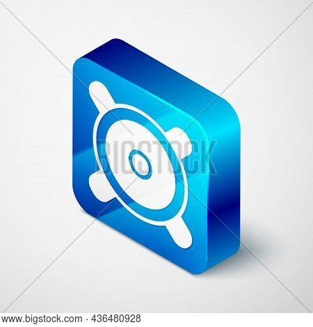 Isometric Stereo Speaker Icon Isolated On Grey Background. Sound System Speakers. Music Icon. Musica