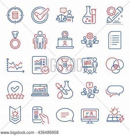 Education Icons Set. Included Icon As Teamwork, Mobile Survey, Document Signs. Diagram Chart, Messen