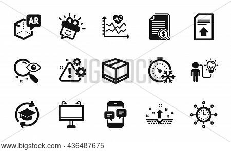 Vector Set Of Cardio Training, Search And Augmented Reality Icons Simple Set. Financial Documents, R