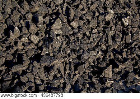 Pale Black Coal, Close-up, Heating Season, Coal Industry
