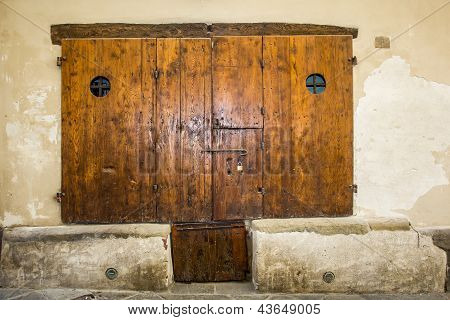 Wooden Ancient Door