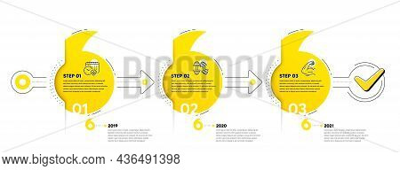 Gym Infographic Timeline With 3 Steps. Quotes Journey Path Infographics. Sport Process Diagram With