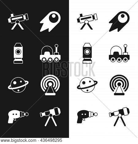 Set Mars Rover, Rocket Ship, Telescope, Comet Falling Down Fast, Planet Saturn, Radar, And Ray Gun I