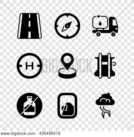 Set Airport Runway, Compass, Fuel Tanker Truck, No Alcohol, Airplane Window, Storm, Helicopter Landi