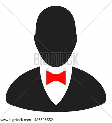Elegant Boss Vector Icon. A Flat Illustration Design Of Elegant Boss Icon On A White Background.