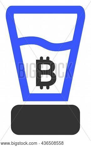 Bitcoin Mixer Vector Illustration. A Flat Illustration Design Of Bitcoin Mixer Icon On A White Backg
