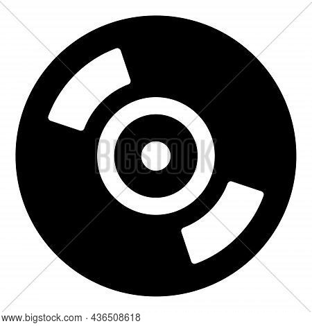 Cd Disc Vector Illustration. A Flat Illustration Design Of Cd Disc Icon On A White Background.
