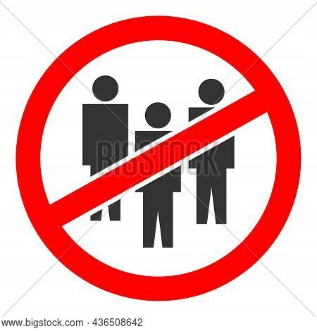No People Crowd Vector Illustration. A Flat Illustration Design Of No People Crowd Icon On A White B