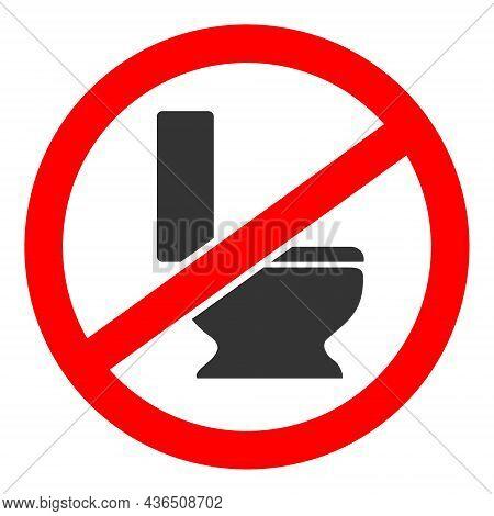 No Toilet Seat Vector Icon. A Flat Illustration Design Of No Toilet Seat Icon On A White Background.