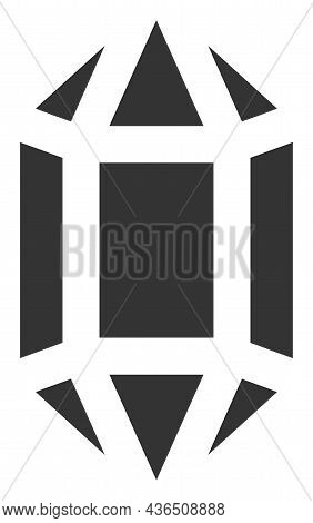 Topaz Crystal Vector Icon. A Flat Illustration Design Of Topaz Crystal Icon On A White Background.
