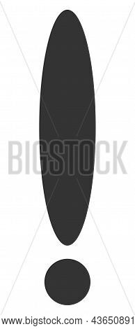 Exclamation Sign Vector Icon. A Flat Illustration Design Of Exclamation Sign Icon On A White Backgro