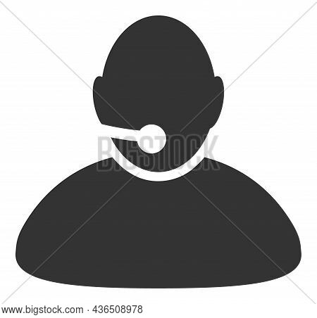 Operator Vector Illustration. A Flat Illustration Design Of Operator Icon On A White Background.