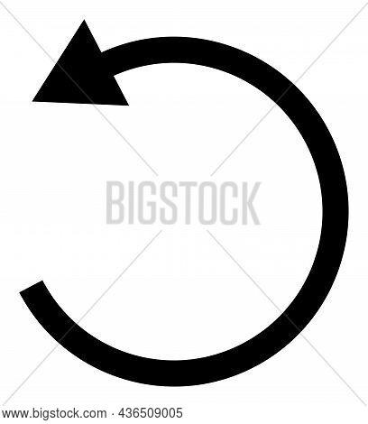 Rotate Left Arrow Vector Illustration. A Flat Illustration Design Of Rotate Left Arrow Icon On A Whi