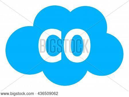 Carbon Monoxide Vector Illustration. A Flat Illustration Design Of Carbon Monoxide Icon On A White B