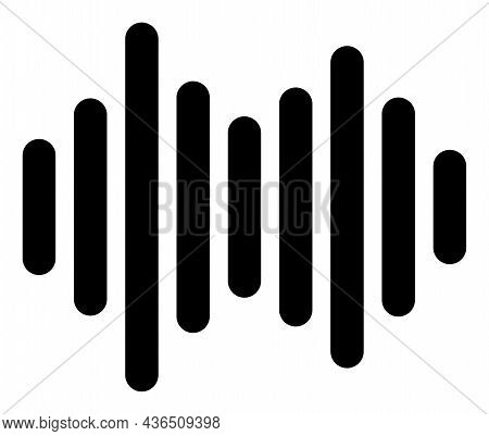 Sound Signal Vector Illustration. A Flat Illustration Design Of Sound Signal Icon On A White Backgro