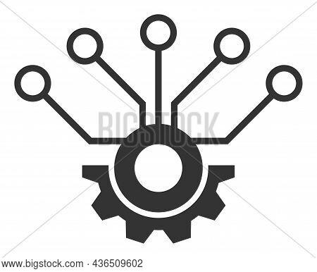 Sensor Hardware Vector Icon. A Flat Illustration Design Of Sensor Hardware Icon On A White Backgroun
