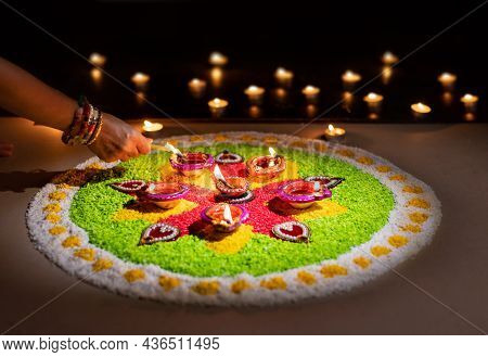 Diwali Is A Festival Of Lights Celebrations By Hindus , Jains, Sikhs And Some Buddhists