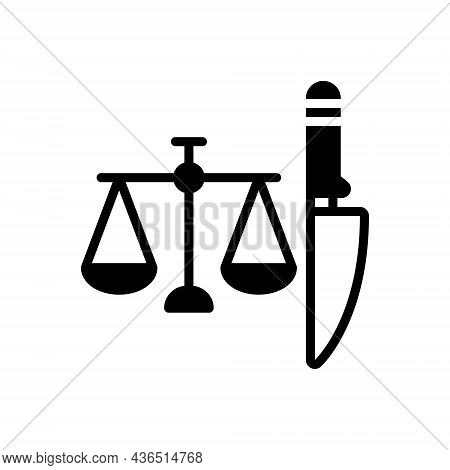 Black Solid Icon For Criminal Delinquent Guilty Justice Convicted Doomed Blameworthy Law