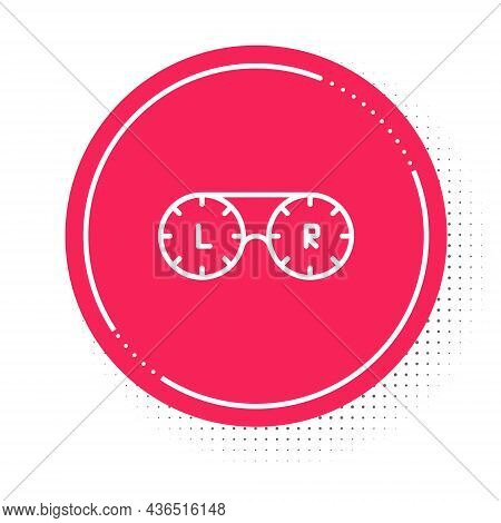 White Line Contact Lens Container Icon Isolated On White Background. Eyesight Care, Lens Hygiene Con