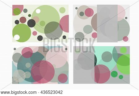 Business Card Vector Set Shapes Template. Elegant Modern Trendy Designs. Colourful Circles.