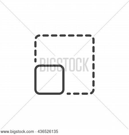 Resize Square Line Icon. Linear Style Sign For Mobile Concept And Web Design. Expand Or Enlarge Outl