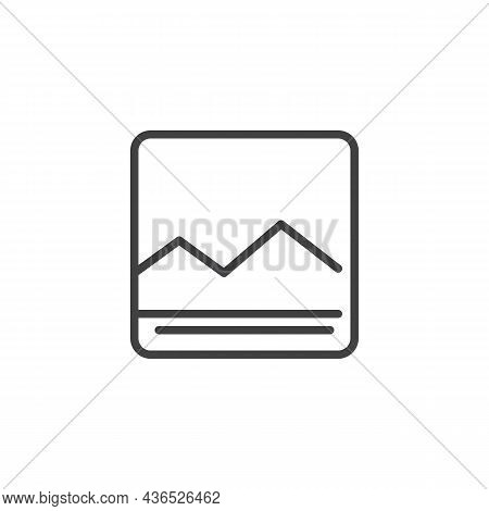 Image Gallery Line Icon. Linear Style Sign For Mobile Concept And Web Design. Multimedia Gallery Out
