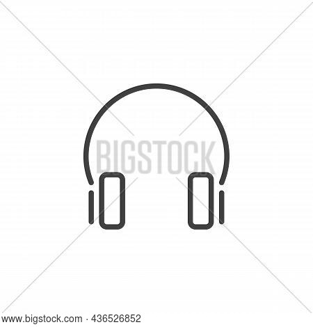 Headphones Line Icon. Linear Style Sign For Mobile Concept And Web Design. Headset Outline Vector Ic