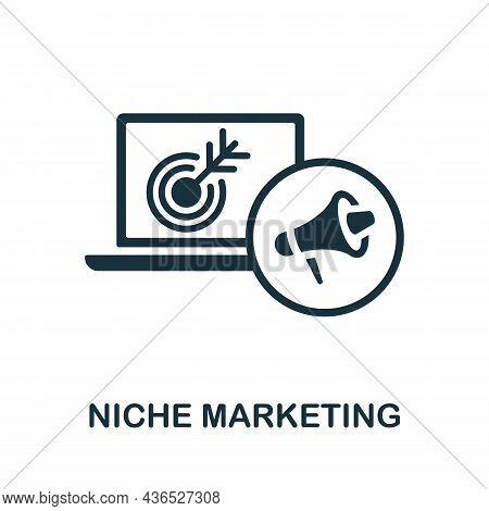 Niche Marketing Icon. Monochrome Sign From Affiliate Marketing Collection. Creative Niche Marketing