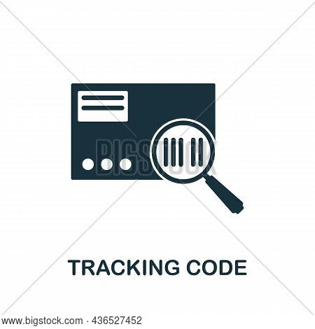Tracking Code Icon. Monochrome Sign From Affiliate Marketing Collection. Creative Tracking Code Icon