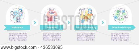 Treatment Plan For Adhd Vector Infographic Template. Medication Presentation Outline Design Elements