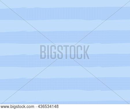 Nautical Blue Striped Background. Watercolour Imitation Style. Vector Illustration.