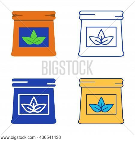 Pack Of Fertilizer Icon Set In Flat And Line Style