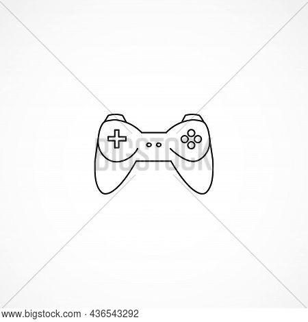 Joystick Icon. Gamepad Line Icon. Gamepad Isolated Line Icon